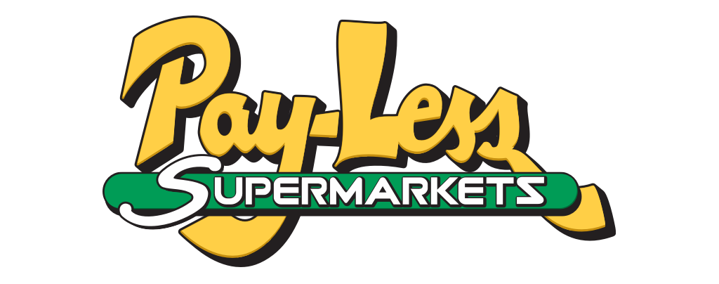 A theme logo of Pay-Less Supermarkets
